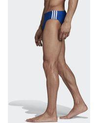 adidas Fitness 3-Streifen Badehose - Blau