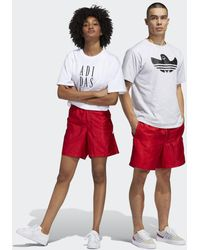 adidas Short Satin (Unisex) - Rosso