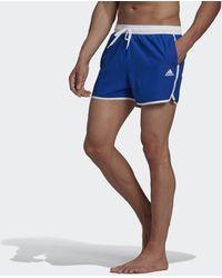 adidas Split CLX Badeshorts - Blau