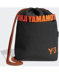 adidas Y-3 Drawstring Backpack - Black