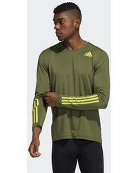 adidas Techfit 3-stripes Fitted Longsleeve - Groen