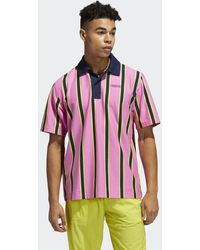 adidas Stripe Poloshirt - Roze