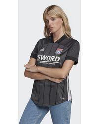 adidas Olympique Lyonnais 20/21 Uitshirt - Zwart