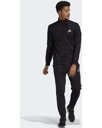 adidas Primegreen Essentials Small Logo Tracksuit - Black