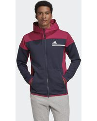 adidas Z.n.e. Aeroready Full-zip Sweatshirt - Blue