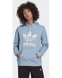adidas Adicolor Trefoil Hoodie - Blauw