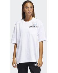 adidas T-shirt Graphic (Taglie forti) - Bianco
