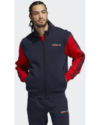 adidas SPRT Firebird Fleece Originals Jacke - Blau