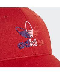 adidas Baseball Classic Trefoil Pet - Rood
