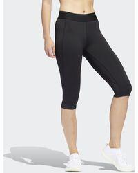 adidas Alphaskin Capri Legging - Zwart