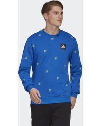 adidas Must Haves Graphic Sweatshirt - Blau