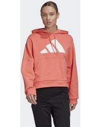 adidas Back Zip Graphic Hoodie - Rot