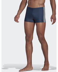 adidas 3-stripes Zwemboxer - Blauw