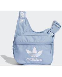 adidas Adicolor Sling Tas - Blauw