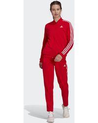 adidas Essentials 3-stripes Tracksuit - Red