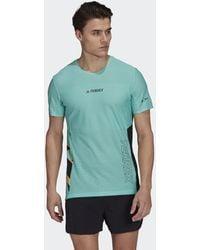 adidas Terrex Parley Agravic Trail Running Pro T-shirt - Groen