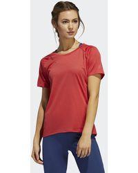 adidas 25/7 Rise Up N Run Parley T-shirt - Rood