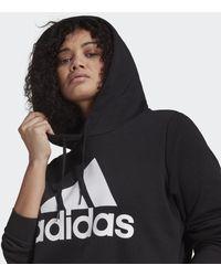 adidas - Felpa con cappuccio Essentials Logo Fleece (Taglie plus) - Lyst