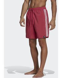 adidas Classic-length 3-stripes Zwemshort - Roze
