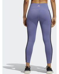 adidas Believe This 2.0 3-stripes 7/8 Legging - Paars