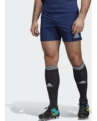 adidas Classic 3-stripes Rugby Shorts - Blue