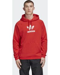 adidas Trefoil Hoodie - Rood