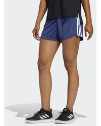 adidas Pacer 3-stripes Knit Shorts - Blue