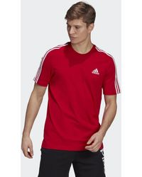 adidas Essentials 3-stripes T-shirt - Rood