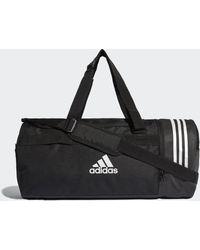 adidas Convertible 3-stripes Duffeltas Medium - Zwart