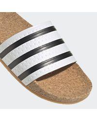 adidas Adilette Cork Badslippers - Wit