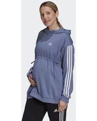 adidas Essentials Cotton 3-stripes Hoodie (positiekleding) - Paars