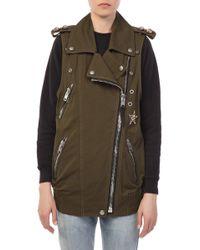 COACH - Crystal Embellished Oversized Vest - Lyst