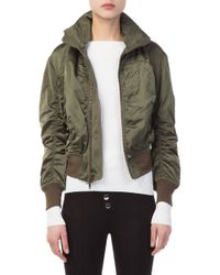 Vince - Hooded Gathered Shell Bomber - Lyst