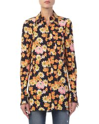JOSEPH - Cassidy Floral Printed Silk Shirt - Lyst