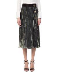 10 Crosby Derek Lam - Pleated Black Skirt - Lyst
