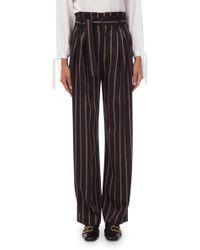 Vince - Belted Stripe Wide Leg Pants - Lyst