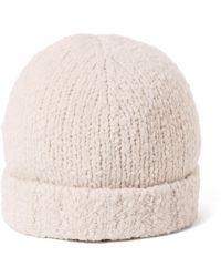 Vince - Textured Beanie Cream Hat - Lyst