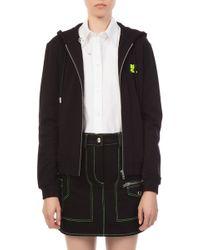 Courreges - Black Zip Hoodie Sweater - Lyst