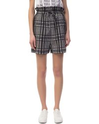 Ganni - Charron Checkered Shorts - Lyst