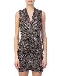 IRO - Corie Grey Mini Dress - Lyst