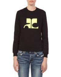 Courreges - Black Sweater Logo Ac - Lyst