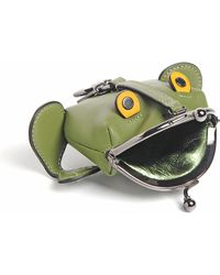 COACH - Froggy Green Coin Case - Lyst