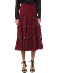 Jonathan Simkhai - Tower Mesh Lace Studded Skirt - Lyst