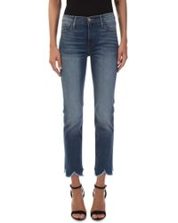 FRAME - Le High Straight Jagged Hem Jeans - Lyst