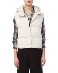 Vince - Light Washed-shell Puffer Vest - Lyst