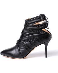 Charlotte Olympia - Sorceress Black Lambskin Sandals - Lyst