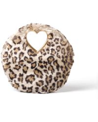 Shrimps - Martini Leopard-print Faux Fur Clutch - Lyst
