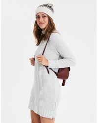 American Eagle - Ae Waffle Mock Neck Sweater Dress - Lyst