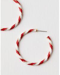 American Eagle - Candy Cane Hoop Earring - Lyst