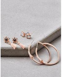American Eagle - Rose Gold Hoop Earrings - Lyst